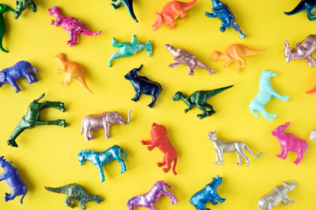 legetøjsfigurer af dyr